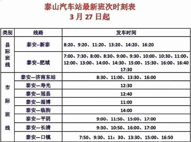 自明天(3月27日)起泰山汽车站恢复运营