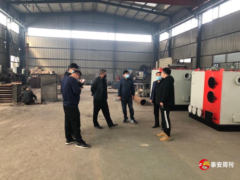 岱岳区山口镇:复工复产环保护航